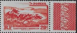 1947 Saint Pierre Et Miquelon N° 342 Nf**  MNH . Bord De Feuille. La Montagne - Ungebraucht