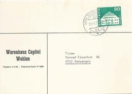 "Motiv Karte  ""Warenhaus Capitol, Wohlen AG""          1971 - Suisse"