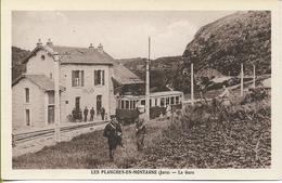 LES PLANCHES EN MONTAGNE  La Gare (automotrice à Bogies Horme & Buire Ligne Champagnole-Foncine Le Bas Des CFV) - France