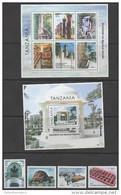 TANZANIA, 2013,ZANZIBAR The MYSTICAL ISLANDS, TURTLE, MONKEY, 4v.+M/S+S/S  MNH** - Postzegels