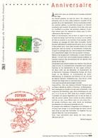 FRANCE - DOCUMENT OFFICIEL JOYEUX HOUBANNIVERSAIRE CAD PARIS DU 31/05/2003 MARSUPILAMI - Documents De La Poste