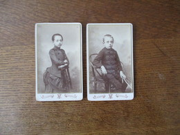 SAINT QUENTIN A.VINMER PHOTOGRAPHE 12 RUE DU GOUVERNEMENT 2 PHOTOS D'ENFANTS - Personnes Anonymes