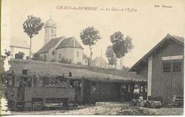 CHAUX DU DOMBIEF   La Gare Et L'église (locomotive Bicabine, Rare Exemple En France) - Altri Comuni