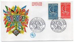 1966 -- FDC     EUROPA  ---- 2 Valeurs --  Cachet  STRASBOURG - 67 - FDC