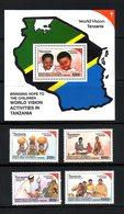 TANZANIA, 2000, WORLD VISION-I, CHILDREN, 4v+ M/S   MNH** - Childhood & Youth