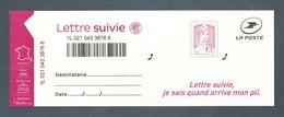 France, Autoadhésif, Adhésif, 1217A, LS 4, Neuf **, TTB, Marianne De Ciappa Et Kawena, Lettre Suivie 20g, Rose Carminé - Luchtpost