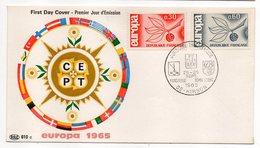 1965 -- FDC     EUROPA  ---- 2 Valeurs --  Cachet  STRASBOURG - 67 - FDC