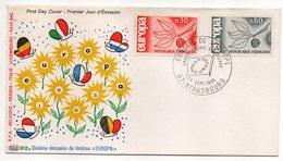 1965 -- FDC     EUROPA  ---- 2 Valeurs  ( Papillons) --  Cachet  STRASBOURG - 67 - FDC