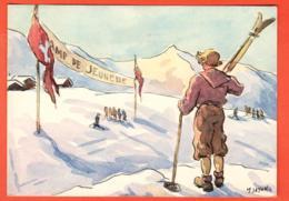 KAL-14  Scoutisme, Action En Faveur Des Clubs De Skis. Camp De Jeunesse Not Used. Grand Format - Padvinderij