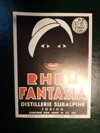 """6192 """" RHUM FANTASIA - DISTILLERIE SUBALPINE - TORINO """" ORIGINALE - Rhum"""