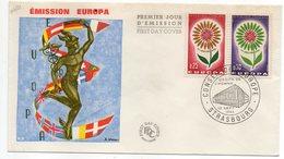 1964 -- FDC     EUROPA  ---- 2 Valeurs   --  Cachet  STRASBOURG - 67 - FDC