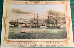 The Bermuda Floating Dock, In Tow Of HMS Warrior, HMS Black Prince And HMS Terrible Leaving Porto Santo For Their Voyage - Bermuda