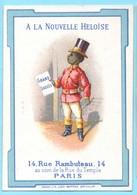 Chromo Habillements A La Nouvelle Héloise. Simil Liebig S. 8, Image I) Garçon Noir En Uniforme Et Chapeau Haut-de-forme - Autres