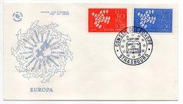 1961 -- FDC     EUROPA  ---- 2 Valeurs   --  Cachet   Foire  De STRASBOURG - 67 - FDC
