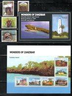TANZANIA, 2011,  WONDERS Of ZANZIBAR, BAT, TURTLE, MONKEY, 4v+M/S+S/S   MNH** - Tartarughe