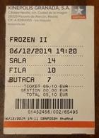 ESPAÑA TICKET CINE - FLOZEN II - Tickets - Entradas