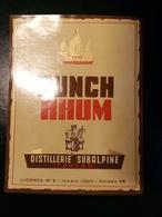 "6197 "" PUNCH RHUM - DISTILLERIE SUBALPINE - TORINO "" ORIGINALE - Rhum"