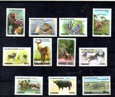 TANZANIA, 2009,  WILD ANIMALS, Definitive,  11v.  MNH** - Francobolli