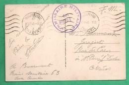 Miltiaria Guerre 1914 -1918 Franchise Militaire Avec Cachet Commissaire Militaire Gare Angouleme ( Train Sanitaire 63 ) - Guerre 1914-18