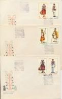 Romania 1968 FDC Folk Costumes On 3 Covers - Costumi