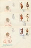 Romania 1969 FDC Folk Costumes On 3 Covers - Costumi