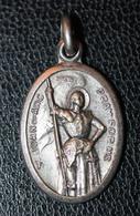 """Pendentif Médaille Religieuse Milieu XXe """"S. Joan Of Arc / Jeanne D'Arc"""" Religious Medal - Religion & Esotericism"""
