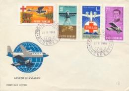 Romania 1968 FDC Air Rescue Service AVIASAN - Primo Soccorso