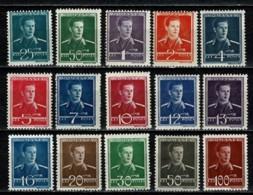 Romana 1940/42 Yv  619/33**,  MNH - Neufs