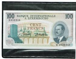 Luxembourg 100Fr Lettre V Non Circulé - Lussemburgo