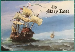 The Mary Rose ~ Launched In 1511 ~ A Salmon Watercolour Postcard - Sailing Vessels