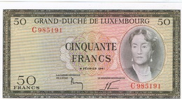 Luxembourg 50Fr Lettre C Non Circulé 1961 - Lussemburgo