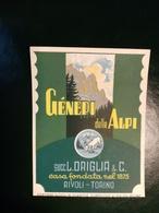 """6202 """" GENEPI DELLE ALPI - SUCC. L. ORIGLIA & C.-RIVOLI-TORINO """" ORIGINALE - Etichette"""