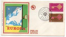 1968  -- FDC     EUROPA  ---  2 Valeurs   --  Cachet    STRASBOURG - 67 - FDC