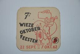 Bierviltje Sous Boc Wieze  7e Oktoberfeesten 1962 - Bierdeckel