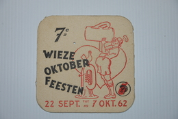 Bierviltje Sous Boc Wieze  7e Oktoberfeesten 1962 - Sous-bocks