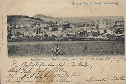 Dudelange Et Buddersberg Avec Côté De St.Jean  -  Charles Bernhoeft,Luxembourg  2 Scans - Postales