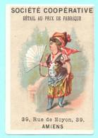 RARE Chromo Société Coopérative Chaussures. Simil Liebig S. 8, Image T). Femme à L'éventail - Autres