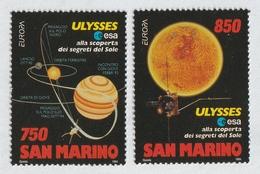 SAN MARINO 1994 EUROPA/Space Exploration: Set Of 2 Stamps UM/MNH - San Marino