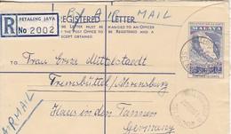 Registered Letter Malaya - Petaling Jaya To Germany - 1961 - Postal Stationary (45485) - Federation Of Malaya