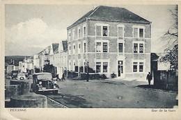 Pétange  -  Rue De La Gare  -  Edit.Eugène Wengler,  -  Coin à Gauche  Plié - Postales