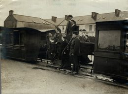 BALLYBUNION RAILWAY IRELAND PORTABLE BRIDGE  RAILWAY TRAIN TREN CHEMIN DE FER 21*16CM Fonds Victor FORBIN 1864-1947 - Trenes