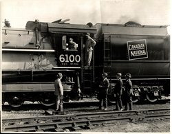 CANADIAN NATIONAL CRACK SEE SCAN RAILWAY TRAIN TREN CHEMIN DE FER 24*18CM Fonds Victor FORBIN 1864-1947 - Trenes