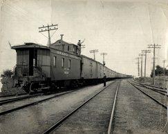 GRAND CANADIAN NATIONAL RAILWAY PONT ARTHUR FORT WILLIAM TRAIN TREN CHEMIN DE FER 24*18CM Fonds Victor FORBIN 1864-1947 - Trenes