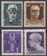 REPUBBLICA SOCIALE ITALIANA - 1944 - Lotto Di 4 Valori Nuovi MNH: Yvert 3, 6, 10 E Posta Aerea 5. - 4. 1944-45 Sozialrepublik