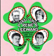 Sticker - PUBLI-SHOW Rene LEEMANS Dennenlaan Oud Turnhout - Paul Severs-Andre Theunis-Bob Vrieling - Autocollants