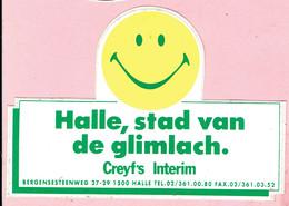Sticker - Halle,stad Van De Glimlach - Creyf's Interim Bergensesteenweg Halle - Autocollants