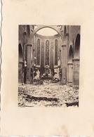 PHOTO ORIGINALE 39 / 45 WW2 WEHRMACHT FRANCE CHAMPAGNE UNE EGLISE EN RUINE - Guerre, Militaire
