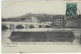 Saint Mihiel - Grande Crue De La Meuse - Ce Qu'on Aperçoit Encore Du Lavoir De La Rive Gauche - Saint Mihiel