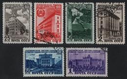 Russia / Sowjetunion 1950 - Mi-Nr. 1494-1499 Gest / Used - Lettische SSR - 1923-1991 UdSSR