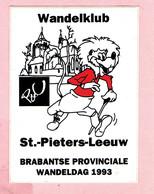 Sticker - Wandelklub - St. Pieters-Leeuw - 1993 - Autocollants
